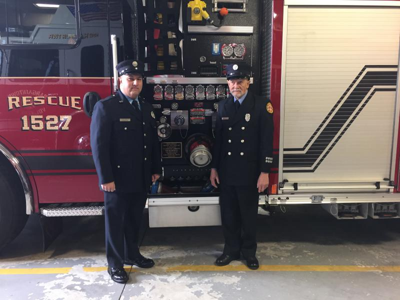 Technician Laird Abbott and his Father, Firefighter Clarence Abbott