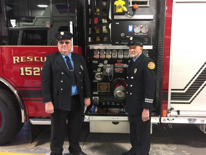 Firefighters Dave Bowen and Clarence Abbott